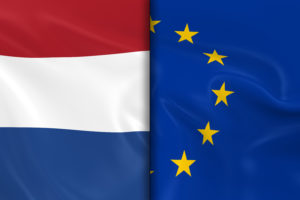 Flags of the Netherlands and the European Union